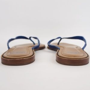 UGG Shoes - UGG Allaria Thong Sandal Flip Flops Blue Calf Hair